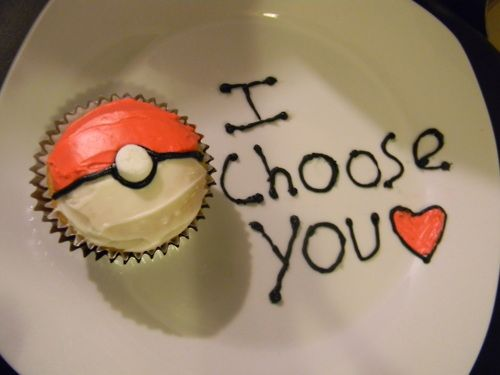 Pokemon I choose you cupcake