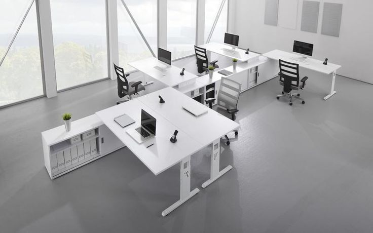 Grossraumburo Einrichten In Augsburg Burotische Stuhle Corporate Office Design Innenausstattung Buro Grossraumburo