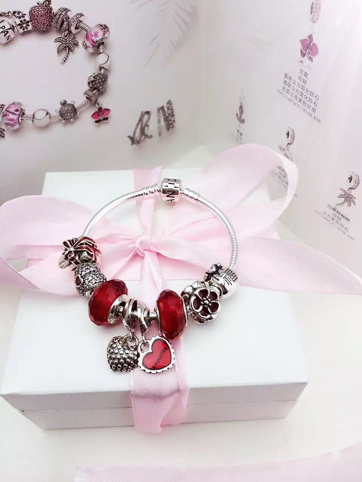 50% OFF!!! $199 Pandora Charm Bracelet Red. Hot Sale!!! SKU: CB01777 - PANDORA Bracelet Ideas