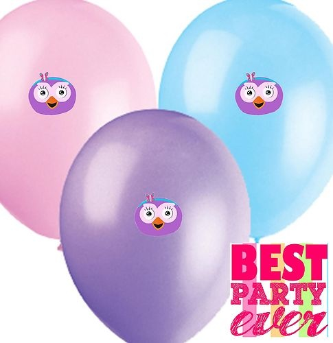 Hootabelle Birthday Party Balloons Cupcake cake decorations