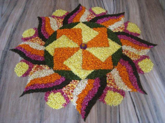 Happy Diwali Floor Rangoli Design, Wallpaper, Images, Pictures 2016