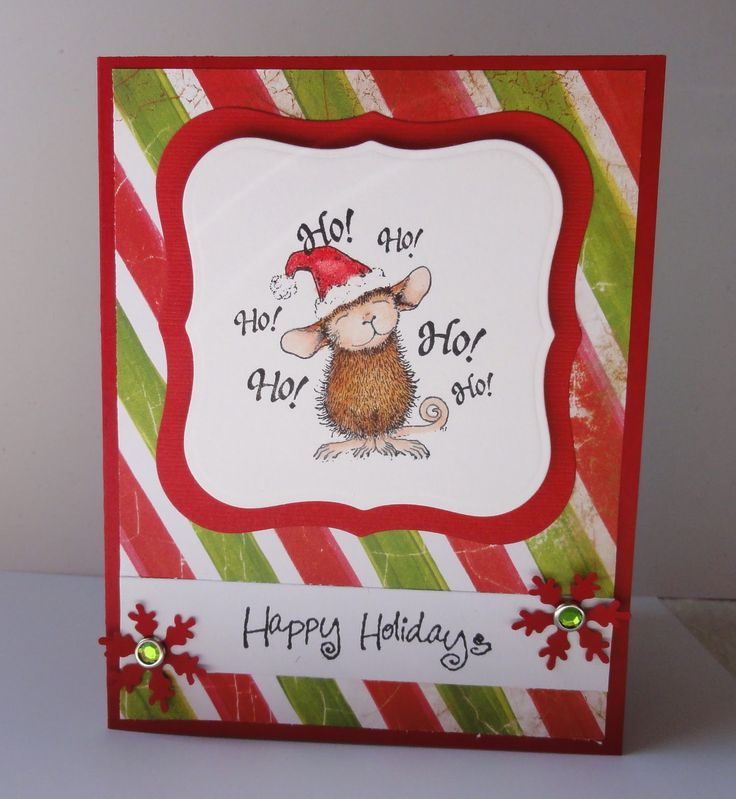 Simple Stamped Christmas Cards   My Stamping Pad: Ho, Ho, House Mouse!
