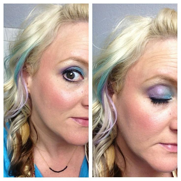 how to make hair chalk with eyeshadow