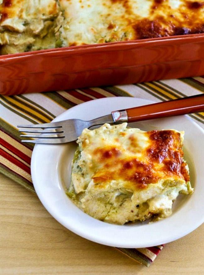 Green Chile And Chicken Mock Enchilada Casserole Video Recipe