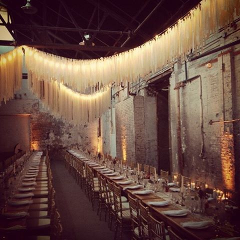 this installation at a #Brooklyn wedding by our #100LCmember @allwhowanderevents ✨✨