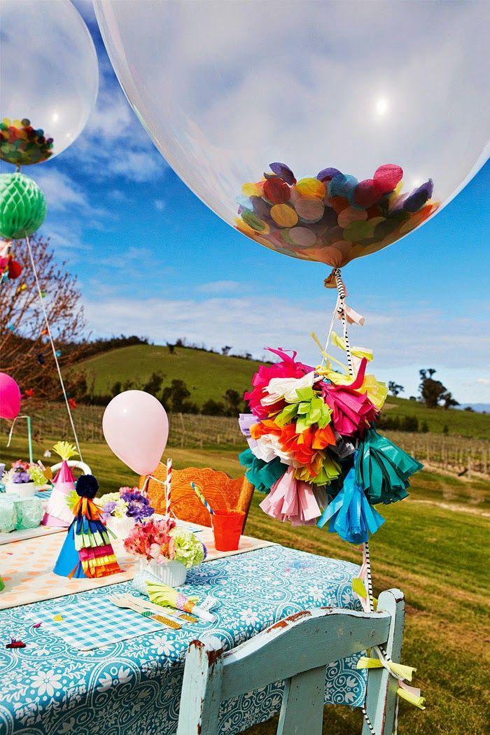 big confetti in a big balloon