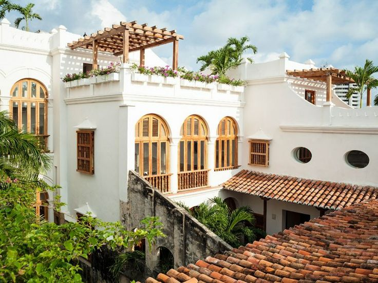 Casa San Agustín Cartagena, Colombia  Three whitewashed colonial buildings with 30 guest rooms and suites in Cartagena's historic center. The look: Seventeenth-century Cartagena, restored. Details include coral-stone walls, hand-painted bathroom tiles, and restored 300-year-old frescoes in the library.