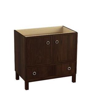 Pic Of Kohler K LG WD Jacquard Vanity Base Bathroom Vanity Ramie Walnut