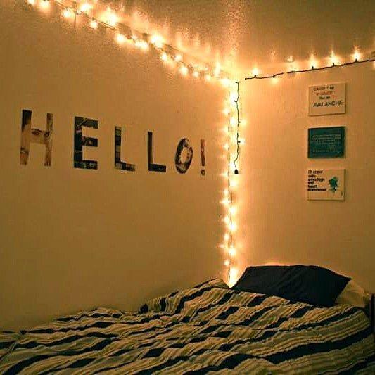 Dekorasi Dinding R Unik Keren Dengan Lampu Tidur Di 2018 Decor Bedroom Dan Lighting