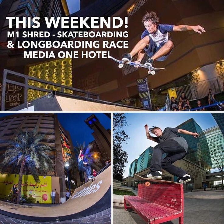 M1 - Shred Skateboarding and Longboarding Race is taking place this weekend Dec 11 at Media One Hotel! Info on  www.citigoers.com LINK IN BIO @mediaonehotel