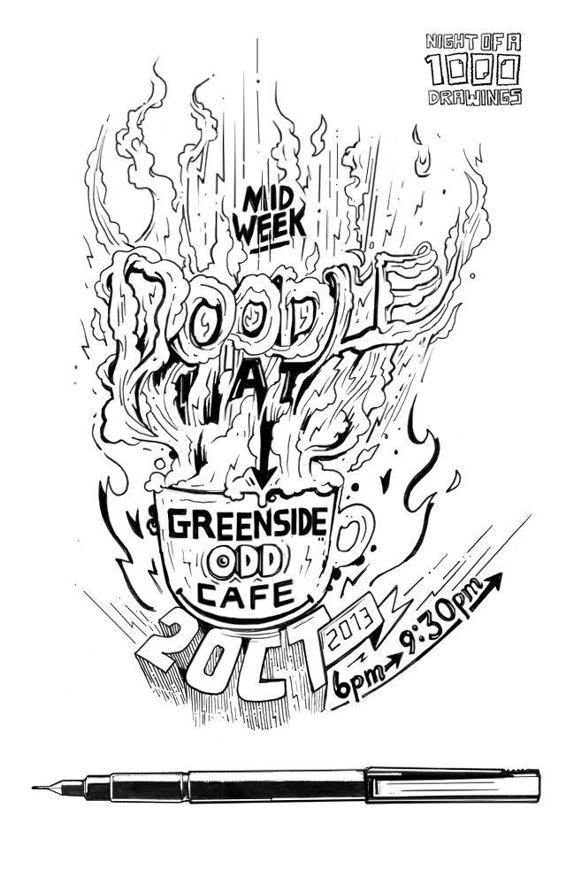 Doodle at oDD Cafe