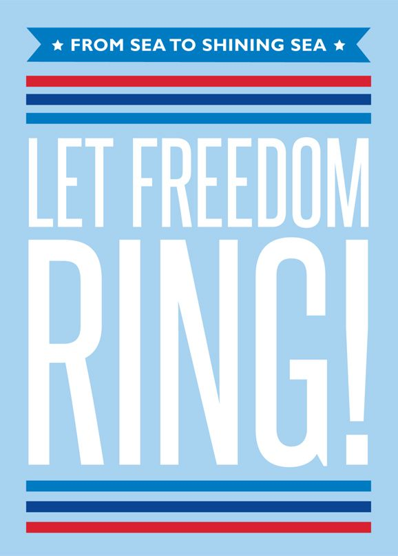 Let Freedom Ring Printable... great for Fourth of July!