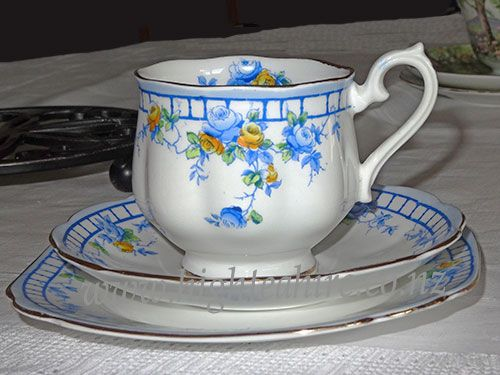 A gorgeous Royal Albert cup saucer and plate  Enquire now to hire