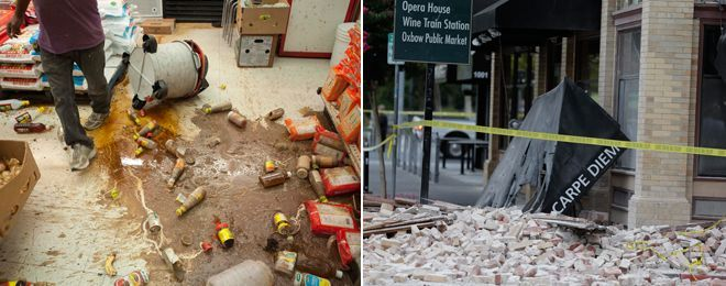 "Ironic - ""Carpe Diem"" lies on the ground after the 6.0 earthquake in Napa Valley, CA...  Fox News - Breaking News Updates 