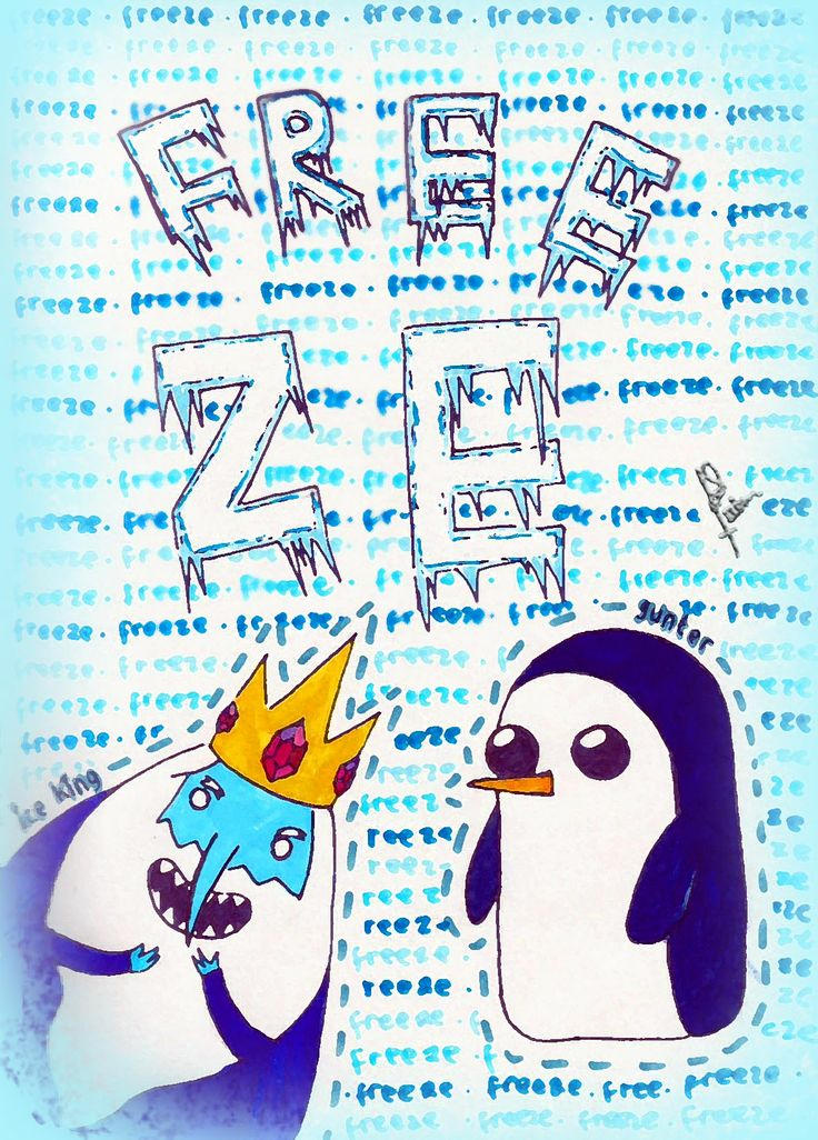 Freezing with Ice King and Gunter