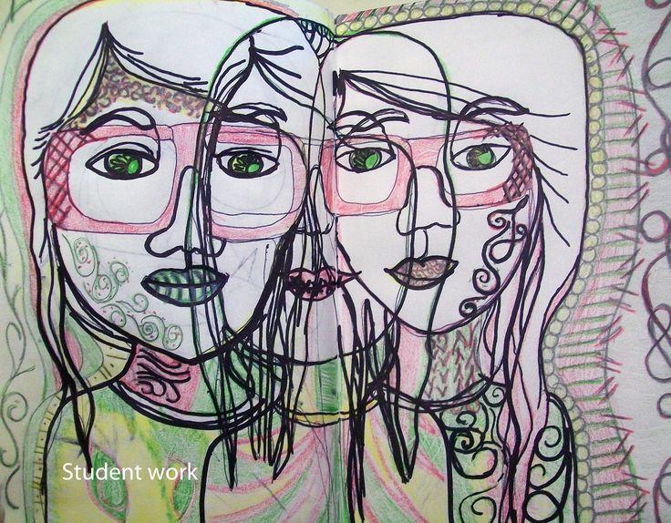 Contour Line Drawing Face : 19 best contour line portrait images on pinterest faces