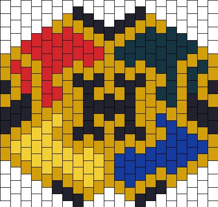 Harry Potter Hogwarts Crest Mask Bead Pattern | Peyote Bead Patterns | Misc Bead Patterns
