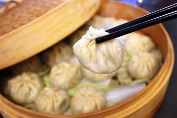 Vegetarian soup dumplings -- more than a recipe; Chef Kiam Lam Kho gives good instructions on how to put the soup in the dumpling.