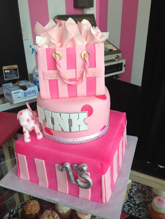 13th Birthday Cakes for Girls | Kids birthdays 13th Birthday cake #pink