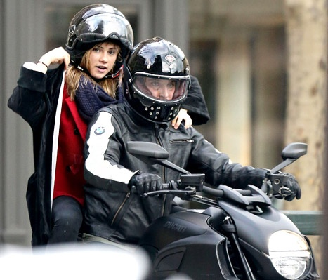 Bradley Cooper, New Girlfriend Suki Waterhouse Ride Motorcycle Through Paris