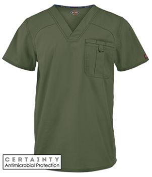 Dickies EDS Signature Scrubs STRETCH Men's V-Neck Top    Dickies EDS Signature 81714A STRETCH Men's V-neck top features Dickies logo twill tape at the back neck. Style # D81714 #UniformAdvantage #DickiesScrubs #ADayInScrubs #MensScrubs #Nurse #NursingScrubs #Scrubs