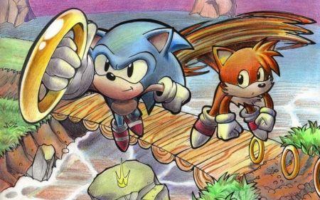 sonic the hedgehog - ring, hedgehog, bridge, sonic