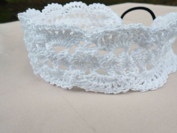 Check out this item in my Etsy shop https://www.etsy.com/listing/385322988/white-lacy-headband-vintage-headband