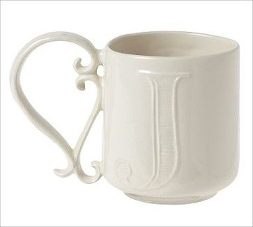 Alphabet Mug, Letter, J - Traditional - Mugs - by Pottery Barn