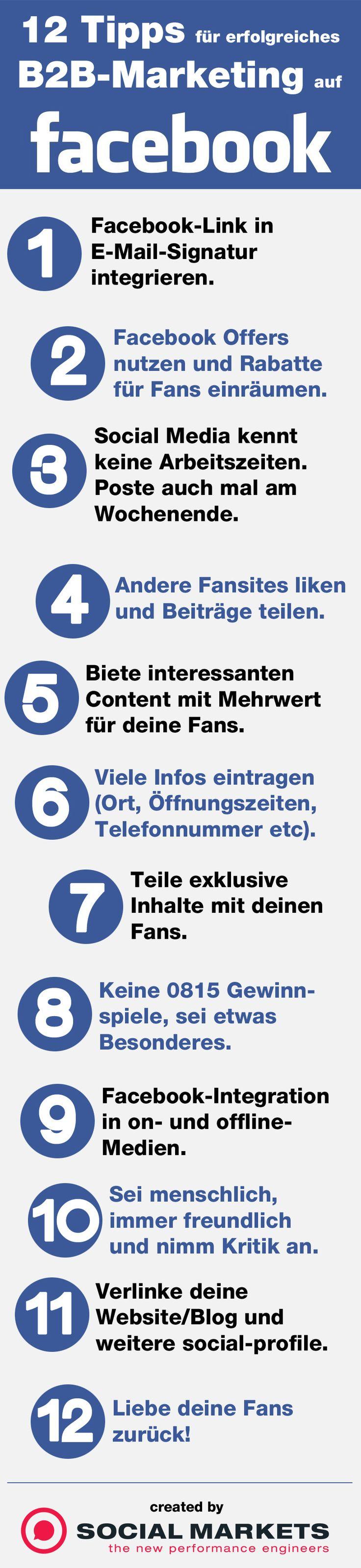 12 #Tipps für #B2B-Marketing auf #Facebook