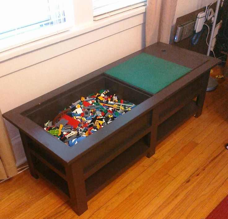 Build Your Own Coffee Table With Storage: I Made The Kids A Coffee Table Which Is Also A LEGO Table