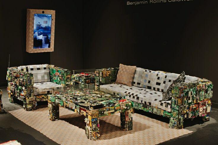 Designer makes furniture #upcycling abandoned electronics | #EMA