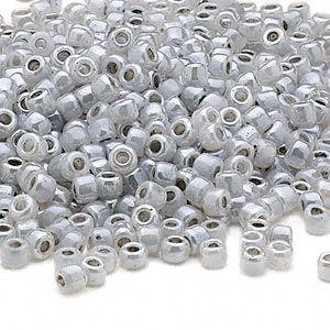 Seed bead, Dyna-Mites�, glass, ceylon pastel grey,