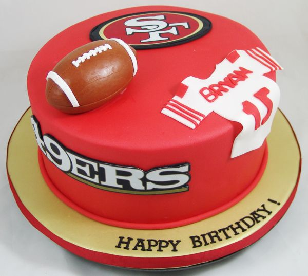 San Fransisco  49ers Cake #BirthdayCakes, #SportsCakes, #FootballCakes