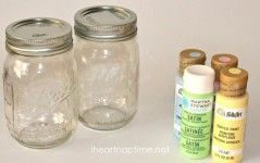 Spring Mason Jars and Printable on I Heart Nap Time