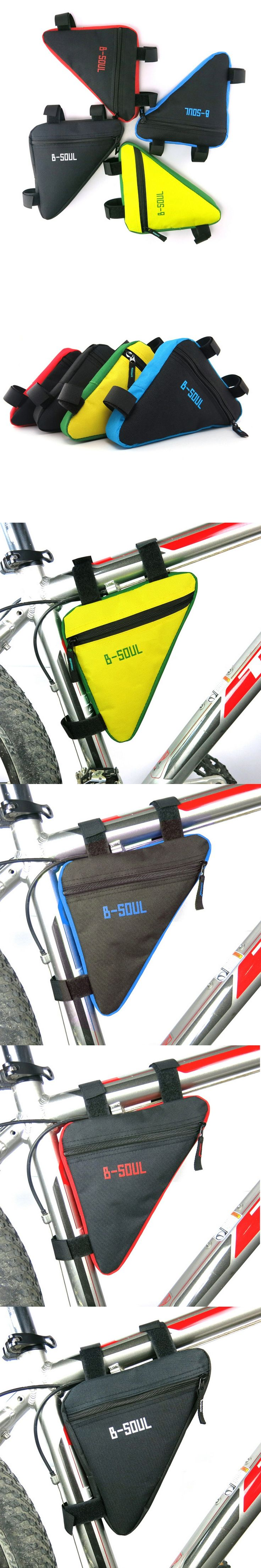 Bike Cellphone Accessories Triangle Waterproof Cycling Bike Bicycle Front Tube Frame Pouch Bag Saddle Holder  Sacoche Velo Selle