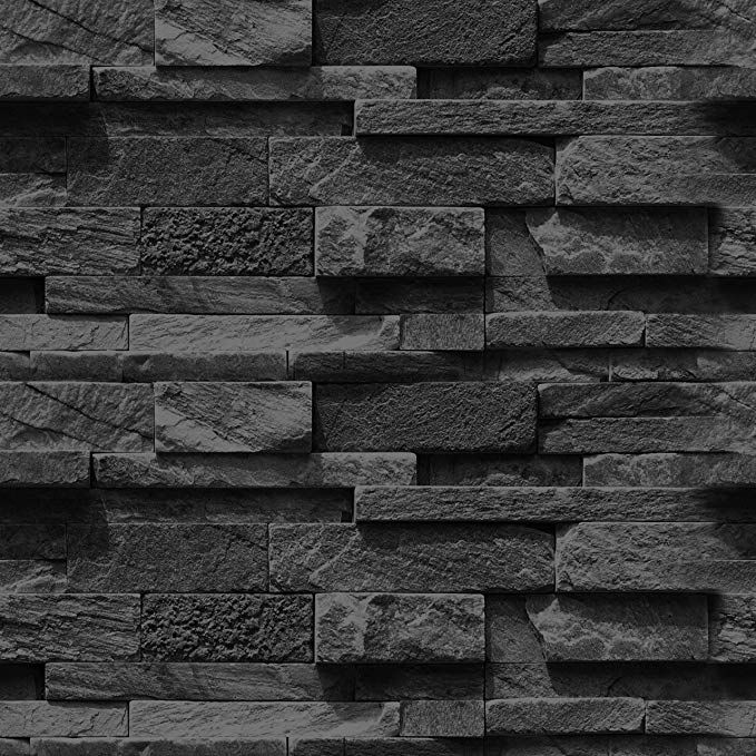 "artgeist Wallpaper Faux Stone 19, 3"" x 393, 7"" 3D Peel and"