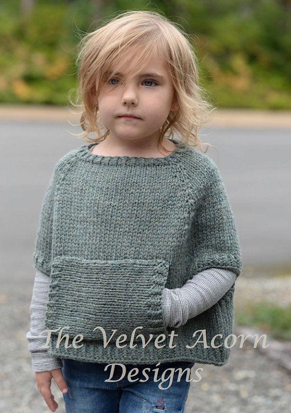 Knitting Pattern Odila Cape Pullover 2/3 4/5 di Thevelvetacorn