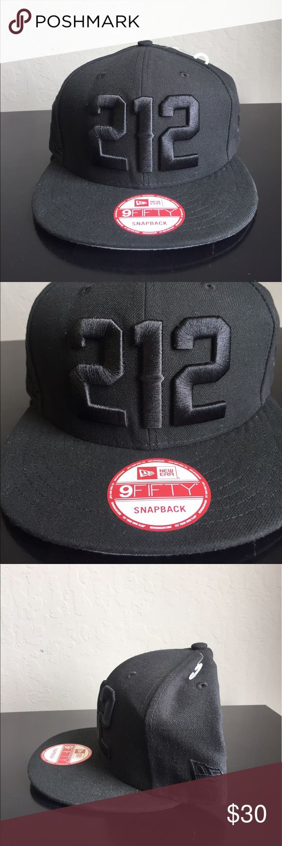 ❗️ 1 DAY SALE❗️New Era 212 Area Code Yankees Hat New Era 9Fifty 212 Area Code New York Yankees Hat  Brand : New Era  Style : 9Fifty  Color : Black  Size : Adjustable  Material : 100% Polyester  Full black base and button  212 Embroidered in black on the front of the cap  New Era Logo embroidered on the left side of the cap  Black mesh cut out of the State of NU on the right side of the cap  Grey under bill  COMES FROM A SMOKE FREE HOME New Era Other