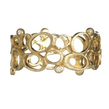 Gold jewellery: Simple Gold Wedding Rings for Women