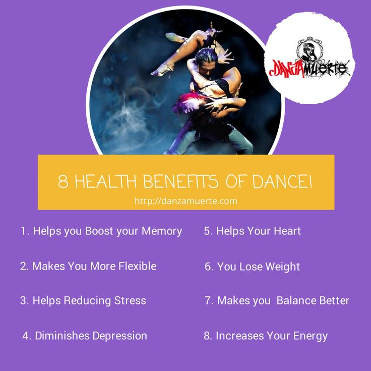 8 health benefits of dance! #health #dance