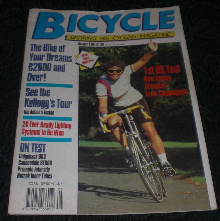 Revista Ciclismo Bicycle October 1987 English UK Unica unidad en España