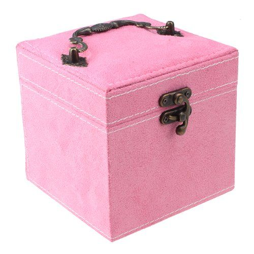 Art Exhibition IMAGE Pink Retro Elegant Makeup And Jewelry Box Case Organizer Storage IMAGE http