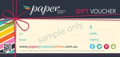 Paper Products Online Gift Vouchers | Paper Products Online