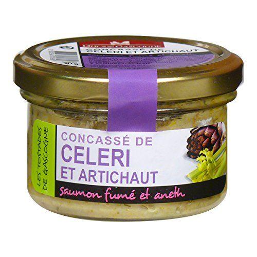 Ducs de Gascogne – Concassé de Céleri et Artichaut, saumon fumé et aneth 90g: Un harmonieux duo de légumes finement hachés, une pointe de…