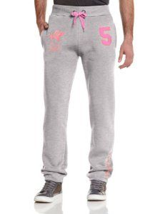 Geographical Norway WK113H/GN – Pantalon de sport – Droit – Homme – Multicolore (Blended Grey/Fluo Pink) – FR: 48 (Taille fabricant: XL)