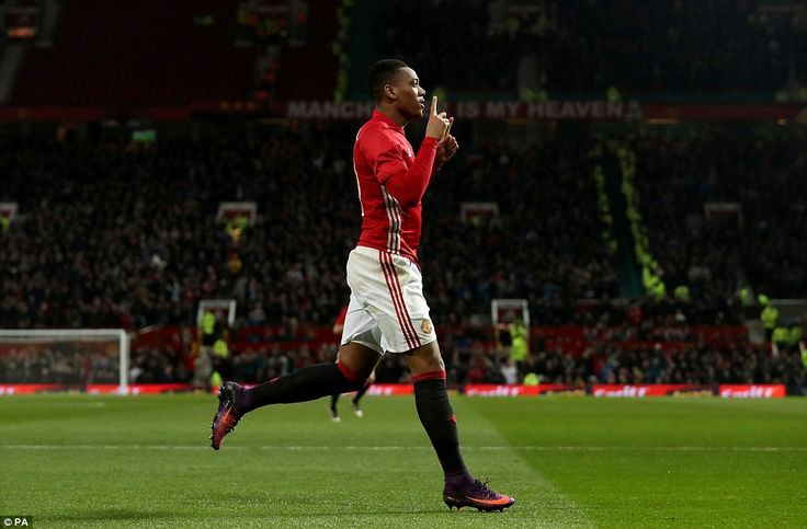 Martial put Manchester United ahead early in the second half as he scored in the 48th minute on Wednesday night