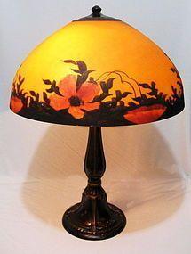 Jefferson Reverse Painted Poppy Lamp