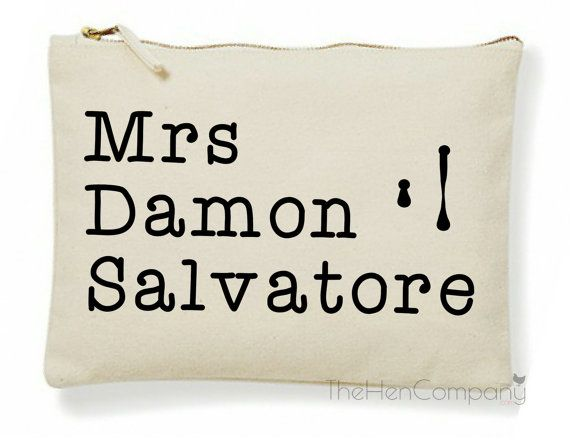 The Vampire Diaries Make-Up Bag Mrs Damon by TheHenCompany on Etsy