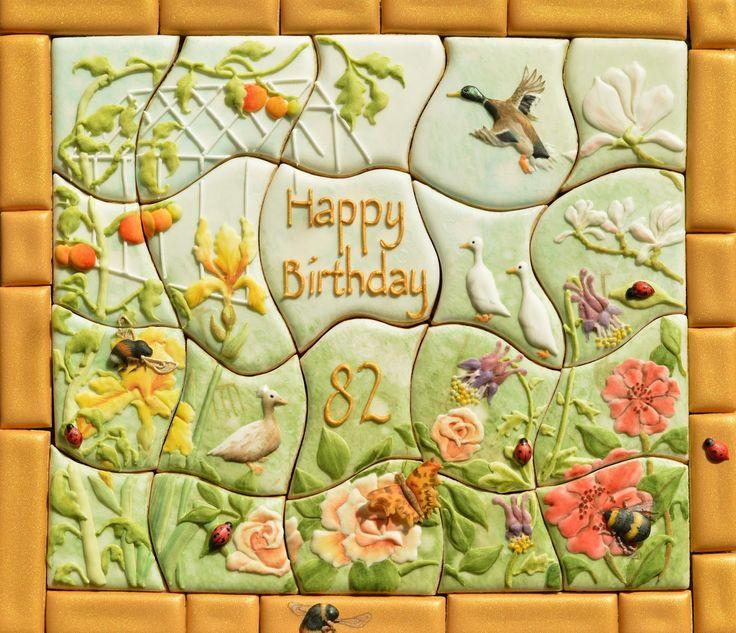 Garden Cookiesaw Cookie Jigsaw Puzzle | Flower Cookies ...