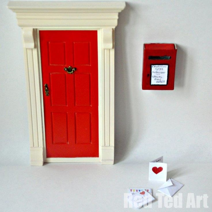 23 best images about zzz tooth fairy ideas on pinterest for Red elf door
